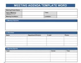 Meeting Agenda Template Excel by Get Free Meeting Agenda Template In Word Microsoft Excel