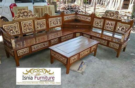 Kursi Tamu Jati Dan Harganya 24 kursi tamu sudut minimalis kayu jati modern jual harga murah