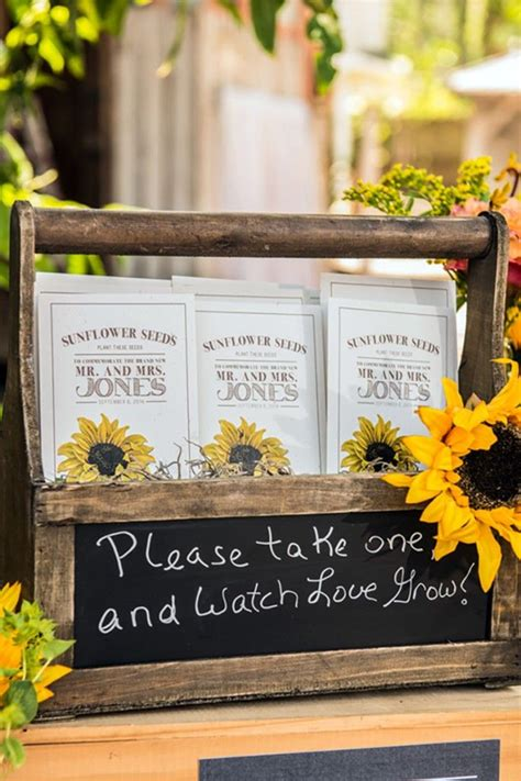Wedding Favors Flower Seeds by 47 Sunflower Wedding Ideas For 2016