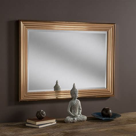 copper wall mirror uk copper framed ridge wall mirror 117x91cm exclusive mirrors