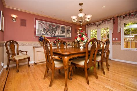 dining room with custom sideboard wine theme and wine