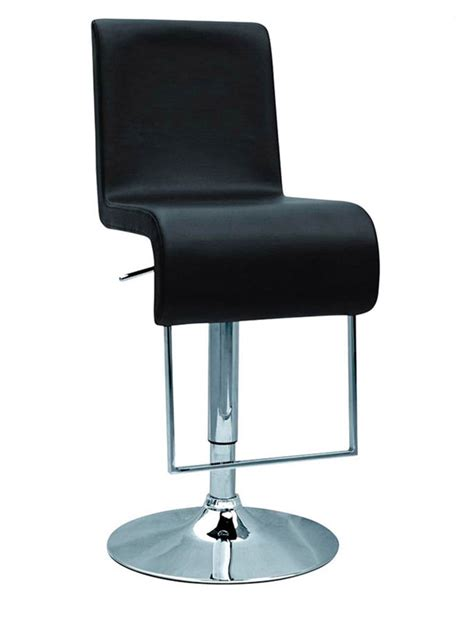 black or white contemporary bar stool with chrome