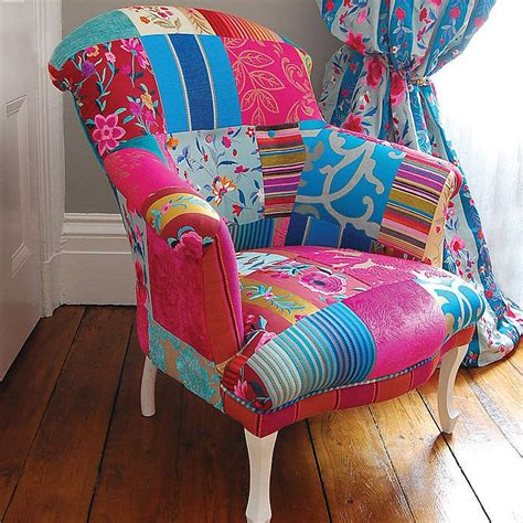 Patchwork Armchair by Mandalay Patchwork Chair By Gb Notonthehighstreet
