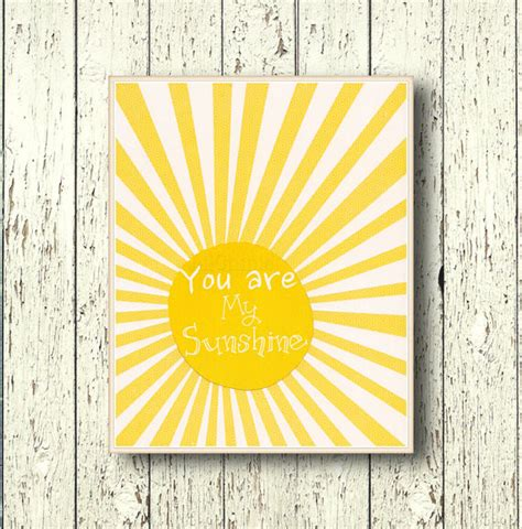 You Are Wall Decor by You Are Sunshine Wall By Lil Chipie