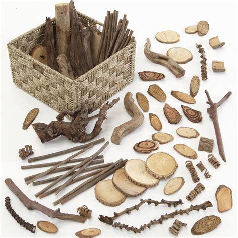 natural materials buy wooden natural materials selection basket 3kg tts