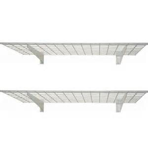 home depot garage shelving hyloft 48 in x 24 in 2 shelf wall storage shelves 00630
