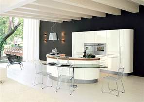 island in a kitchen curved kitchen island from record cucine digsdigs