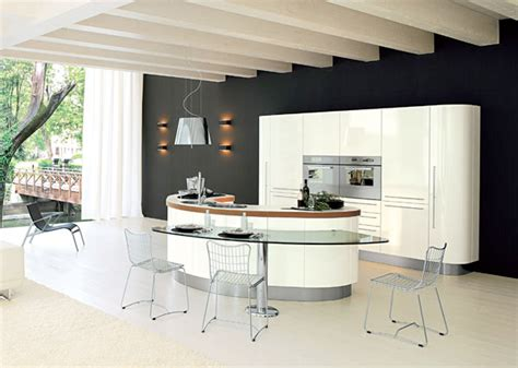 Curved Island Kitchen Designs | curved kitchen island from record cucine digsdigs