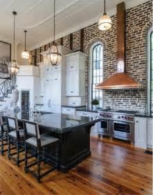 brick kitchens exposed brick kitchen pinterest