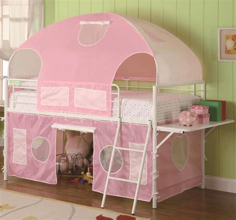 pink bunk bed white pink tent bunk bed