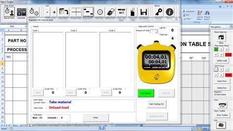 Home Tools For Lean Manufacturing Toyota Production System Excel Stopwatch Template