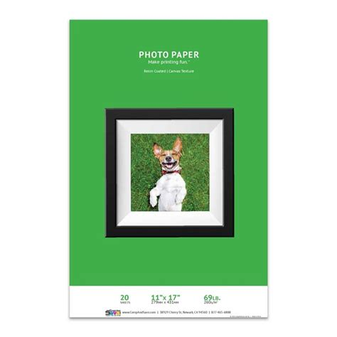 Canvas Import Premium 17 11 quot x 17 canvas textured inkjet photo paper resin coated 20 sheets