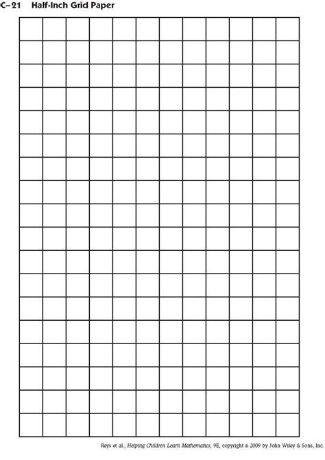 Printable Grid Paper Half Inch | 7 best images of printable 1 2 inch grid graph paper 1 2