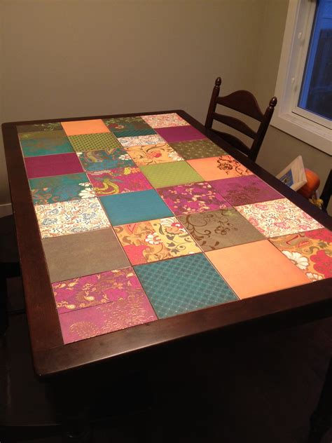 Decoupage Tables - how to decoupage so freakingood