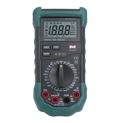 Multimeter Manual mastech ms8264 3 1 2 manual range digital multimeter protection circuit capacitance frequency