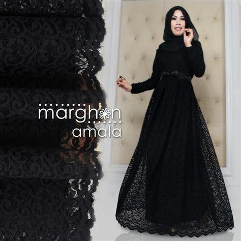 Gamis Az Zahra Syari I amala hitam baju muslim gamis modern