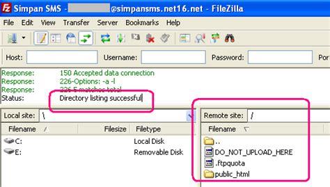 tutorial upload web ke hosting salimkita tutorial filezilla setting dan upload file ke