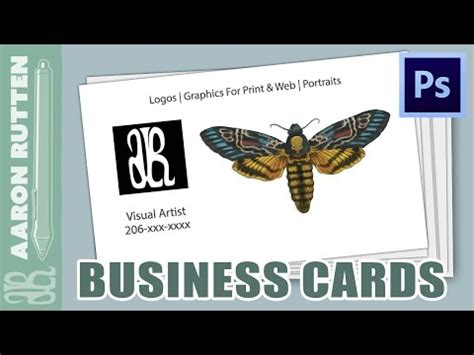 how to make business cards on photoshop how to make a business card with photoshop cc