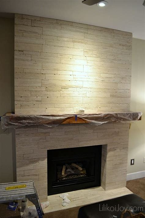 Tile Fireplace by Family Room Fireplace Makeover Before Diy Projects To