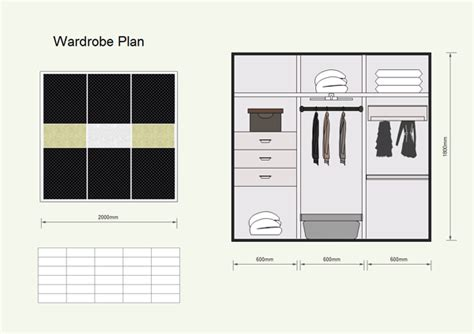 Plan Your Wardrobe floor plan exles