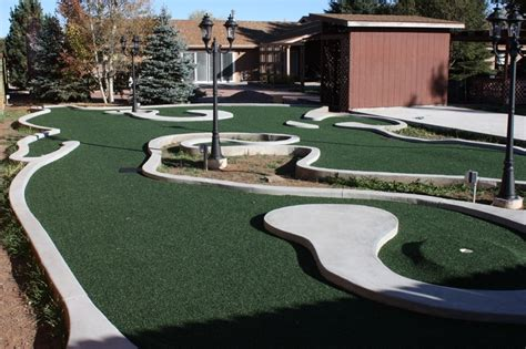 mini golf backyard backyard mini golf course obe brothers flooring