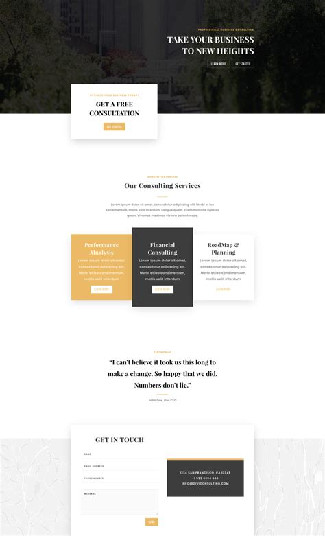 home page layout design view located on the ribbon is referred to as get an exceptional business consultant layout pack for