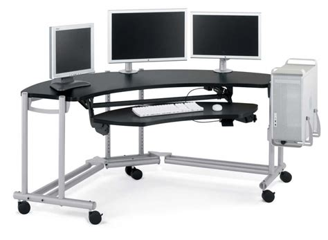 Stylish Computer Desks With Regard To Small Desk On Wheels