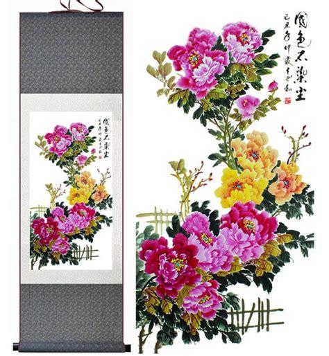 wallpaper bunga peony kualitas tinggi cina lukisan burung beli murah cina