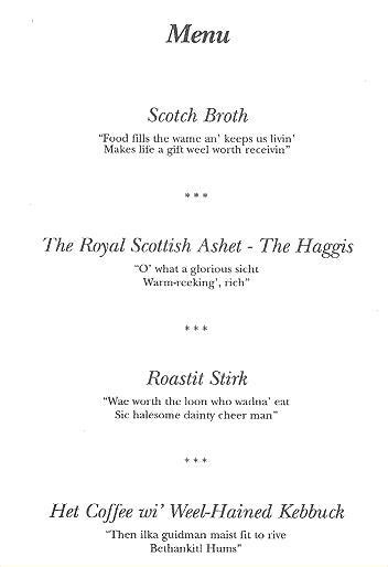 burns menu template who made the tis he alone decid by robert burns