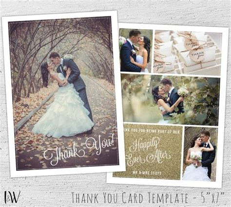 Wedding Thank You Card Photoshop Template by Best 25 Wedding Thank You Cards Ideas On