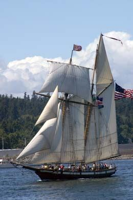 swift lady boat tall ships start five day tacoma visit on june 30 2005