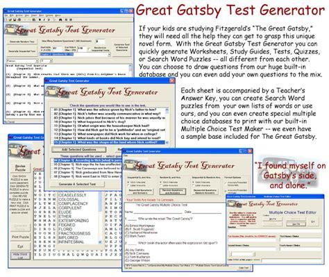 the great gatsby themes quiz great gatsby test generator
