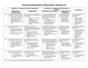 Informative Essay Rubric Common by Informational Writing Rubric 4th Grade Common This Opinion Writing Rubric Incorporates