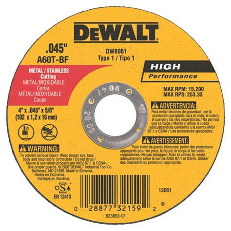 Cutting Whell dewalt dw8061b5 metal cutting wheel 4 quot