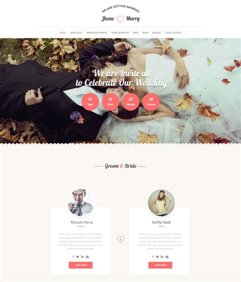 55 wedding wordpress themes templates for wedding