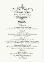 Fancy Dinner Menu Template by Wedding Menu Cards Dinner Menus Custom Designs