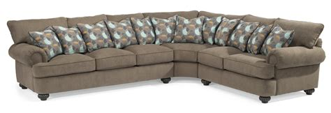 Flexsteel Patterson Sofa by Flexsteel Patterson Three Sectional Sofa With Rolled