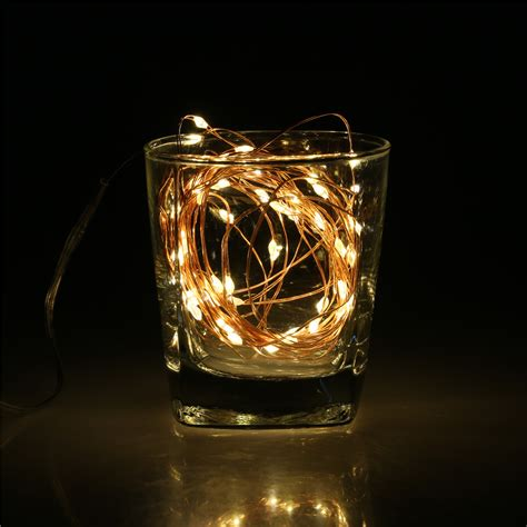 5m 50 led copper lights warm white indoor or outdoor fairy