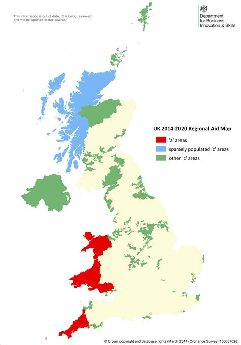 Uk Essay by Assisted Areas Map 2014 To 2020 Stage 2 Gov Uk