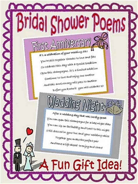 Wedding Shower Poems by Bridal Shower Gift Idea That Brides It Starts A