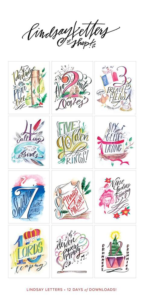12 days of christmas on pinterest christmas door decorations 12 days of printables twelve days of decor crafts