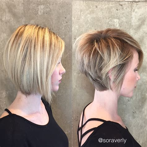 short super stacked hair style 30 trendy stacked hairstyles for short hair practicality