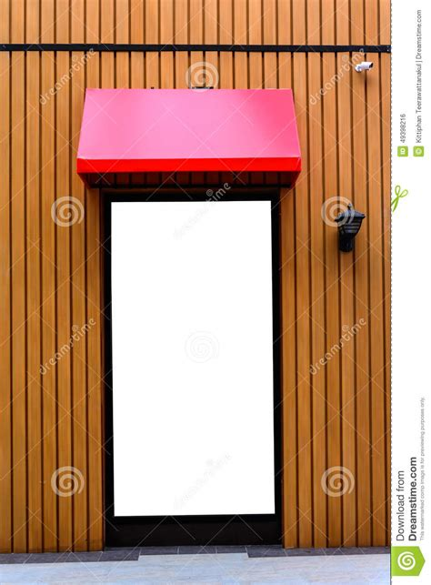 awning red red awning with wooden wall stock photo image 49398216