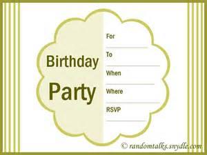 free printable birthday invitation templates for adults free printable birthday invitations random talks