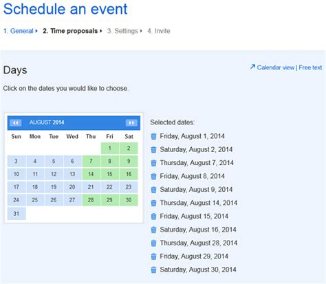 doodle calendar event organise employees with doodle s simple schedule maker