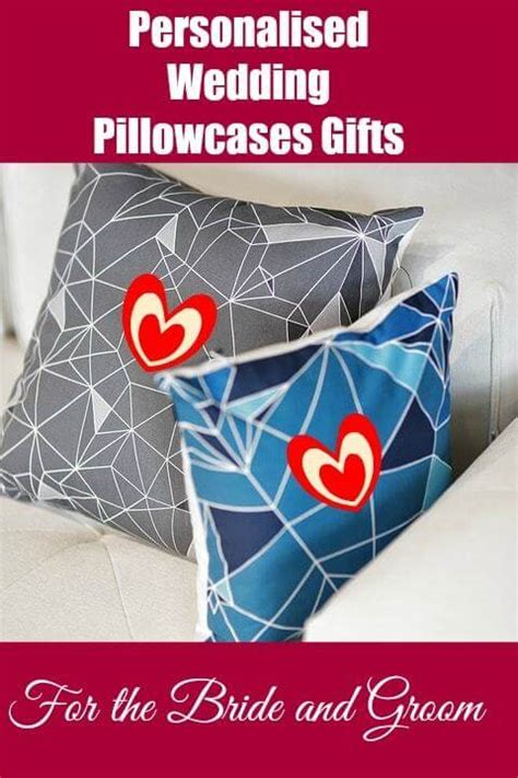 personalized wedding gift pillow cases for and groom