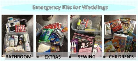 emergency kits for weddings linentablecloth