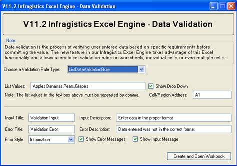 bean validation pattern exle excel data validation infragistics excel windows forms