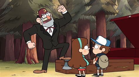 stan pines gravity falls wiki wikia s1e3 grunkle stan stepping on coffin