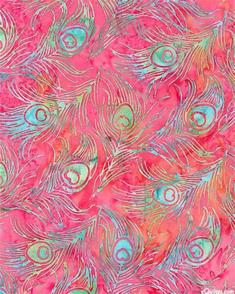 wallpaper batik pink peacock feather drift batik azalea pink peacock fabric